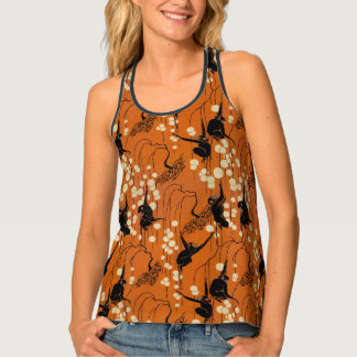 Vintage Deco Moderne Monkeys Tank Top