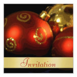 Vintage Decorations Christmas Holiday Invitation