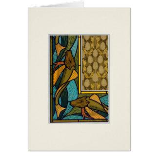 vintage decorative design with fish card