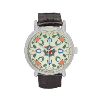 Vintage Decorative Floral Pattern Watch
