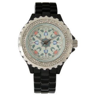 Vintage Decorative Floral Pattern Wrist Watches