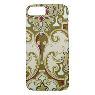 Vintage Decorative Gold Scroll Royal Wallpaper iPhone 7 Case