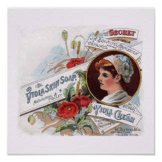 Vintage Decorative Poster - Viola Skin Soap