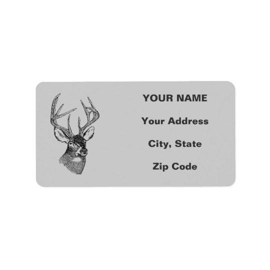 Vintage deer art graphic
