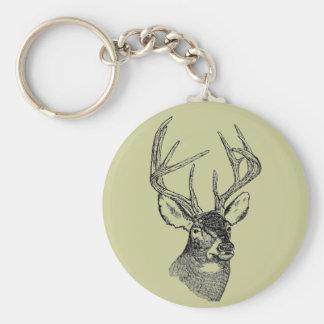 Vintage deer art graphic keychain