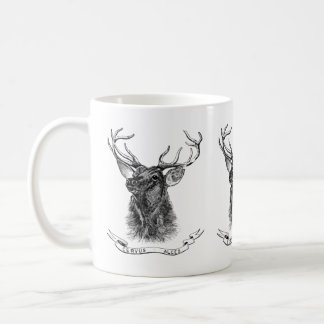 Vintage deer head coffee mug
