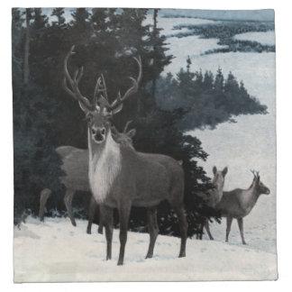 Vintage Deer Printed Napkins