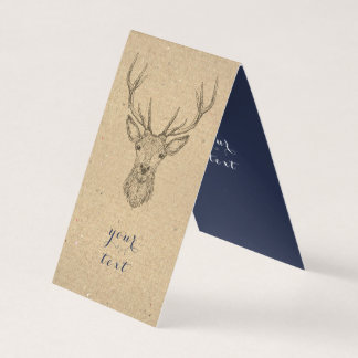 Vintage Deer Scandinavian Christmas Business Card