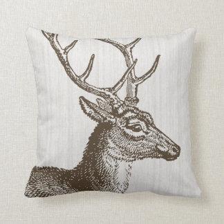 Vintage Deer Stag pillow