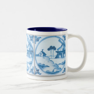 Vintage Delft Tile Windmill Coffee Mug