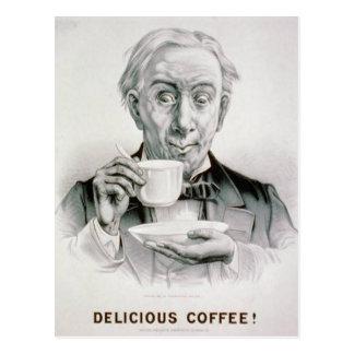 Vintage Delicious Coffee Postcard