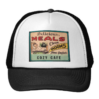 Vintage Delicious Meals Clean Rooms Home Comforts Trucker Hat