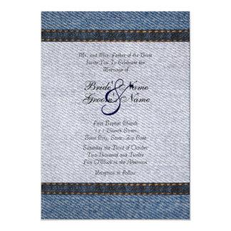 Vintage Denim Jeans Wedding Invitation