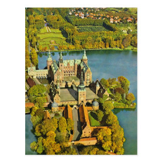 Vintage  Denmark, Fredericksburg, Castle Postcard