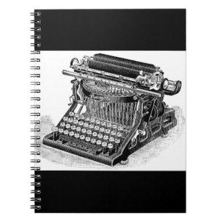 Vintage Densmore Typewriter, Spiral Notebook