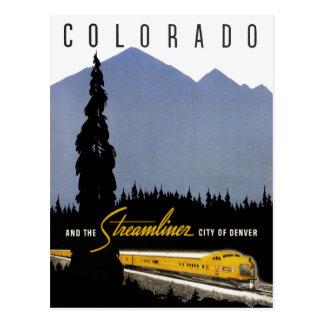 Vintage Denver Colorado Railroad Travel Postcard