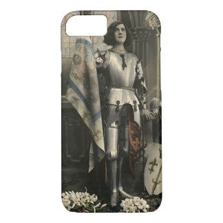 Vintage Depiction of Joan of Arc iPhone 8/7 Case
