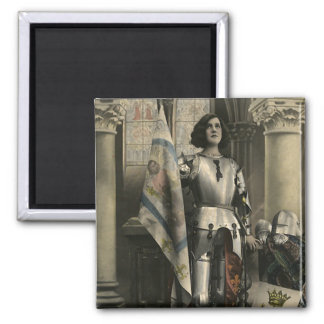 Vintage Depiction of Joan of Arc Magnet