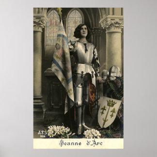Vintage Depiction of Joan of Arc Poster