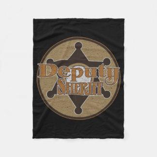 Vintage Deputy Sheriff Fleece Blanket