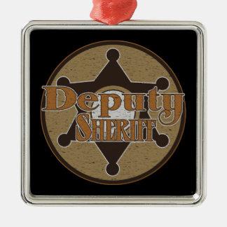 Vintage Deputy Sheriff Metal Ornament