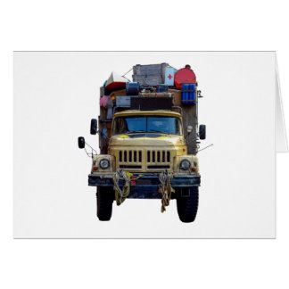 Vintage Desert Expedition Truck Card