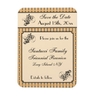 Vintage Design-Reunion, Event, Party Save the date Magnet