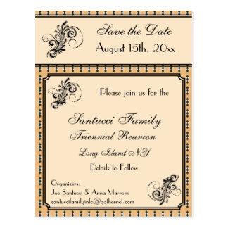 Vintage Design Reunion, Event, Party Save the Date Postcard