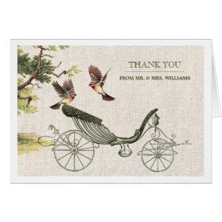Vintage design Wedding Thank You Greeting Cards
