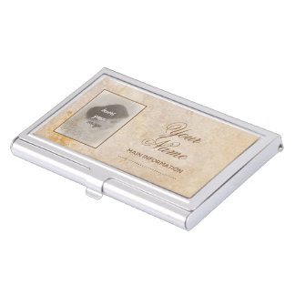 Vintage design with your photo. Add your text. Business Card Holder