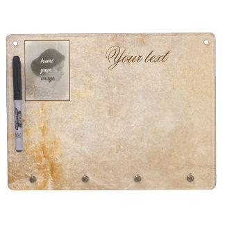 Vintage design with your photo. Add your text. Dry Erase Board With Keychain Holder