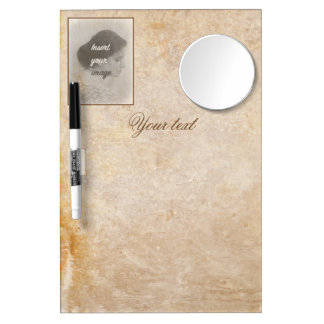 Vintage design with your photo. Add your text. Dry Erase Board With Mirror