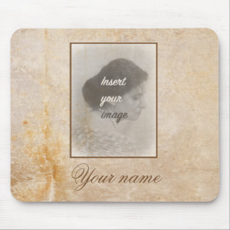 Vintage design with your photo. Add your text. Mouse Pad