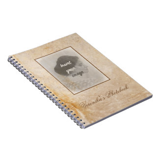 Vintage design with your photo. Add your text. Notebooks