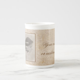Vintage design with your photo. Add your text. Tea Cup
