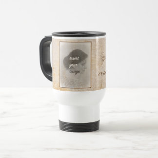 Vintage design with your photo. Add your text. Travel Mug