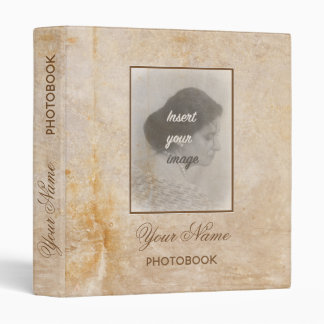 Vintage design with your photo. Add your text. Vinyl Binders