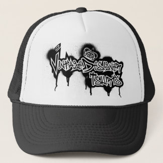 Vintage Designer Graffiti Logo Trucker Hat