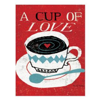 Vintage Desktop - Coffee Postcard