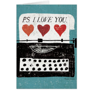 Vintage Desktop - Typewriter Greeting Card