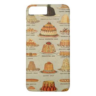 Vintage Dessert Snack Illustration iPhone 7 Plus Case