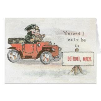 Vintage Detroit Auto Note card
