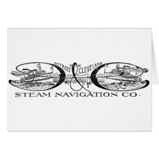Vintage Detroit & Cleveland Steam Navigation Co Card