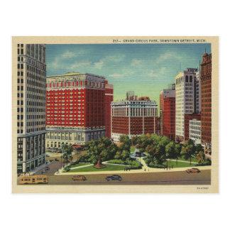 Vintage Detroit Michigan Postcard