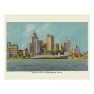 Vintage Detroit Michigan Travel Postcard