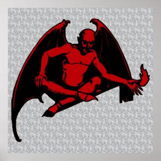 Vintage Devil Poster