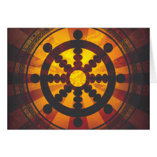 Vintage Dharma Wheel Print Card