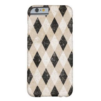 Vintage Diagonal Argyle Grunge iPhone 6 case