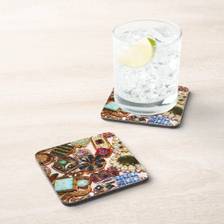 Vintage Diamante Glam Coaster Set