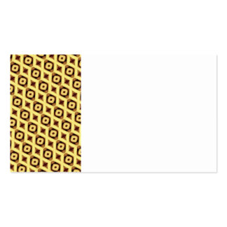 Vintage Diamond Triangles Sepia Tile Pattern Gifts Business Card